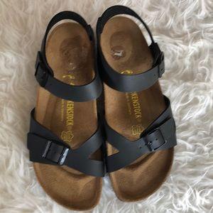 Birkenstock Rio black leather sandal Sz 10